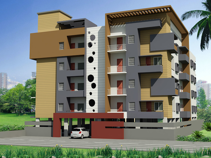 Apartment For Mr. Shetty Modern houses by Icarus Architects Modern