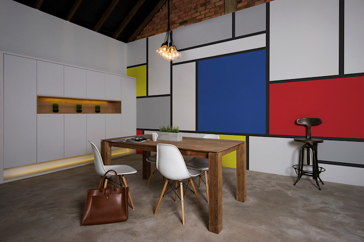 Mondrian:  Dining room by Pixers