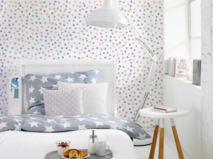 Pastel hearts Eclectic style bedroom by Pixers Eclectic