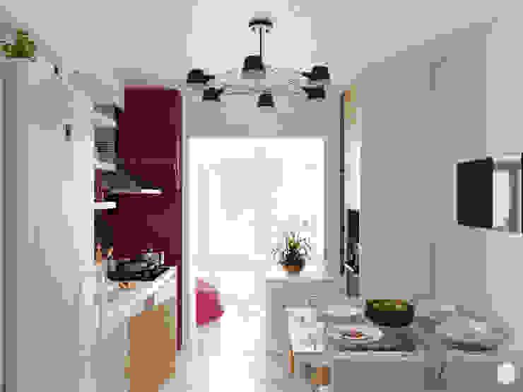 """Кухня в современном стиле """"Разноцветные маки"""" Кухня в стиле модерн от 2GO Design Studio Модерн Изделия из древесины Прозрачный"""