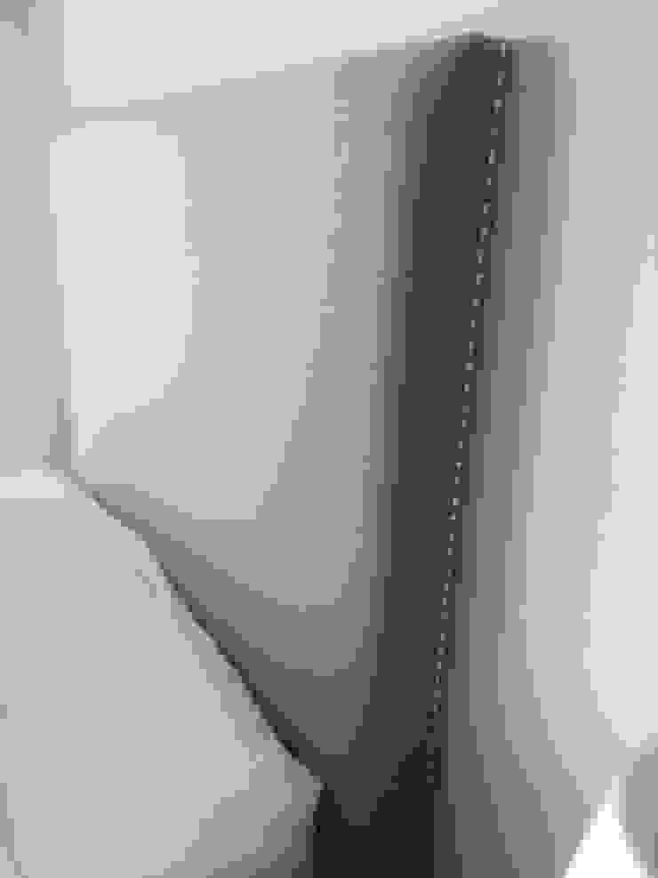 Cabecera con clavillo Estilo en muebles DormitoriosCamas y cabeceras Sintético Gris