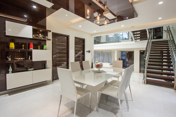 Contermporary Elegance Modern dining room by A360architects Modern