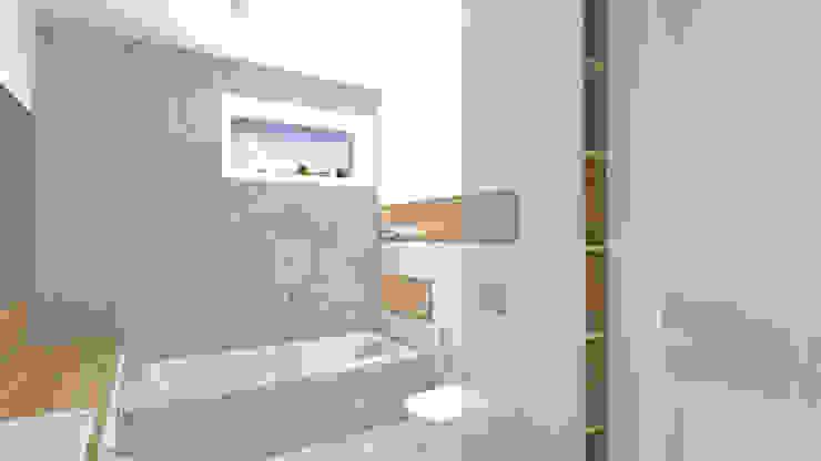 Baños de estilo minimalista de Interjo Minimalista Azulejos