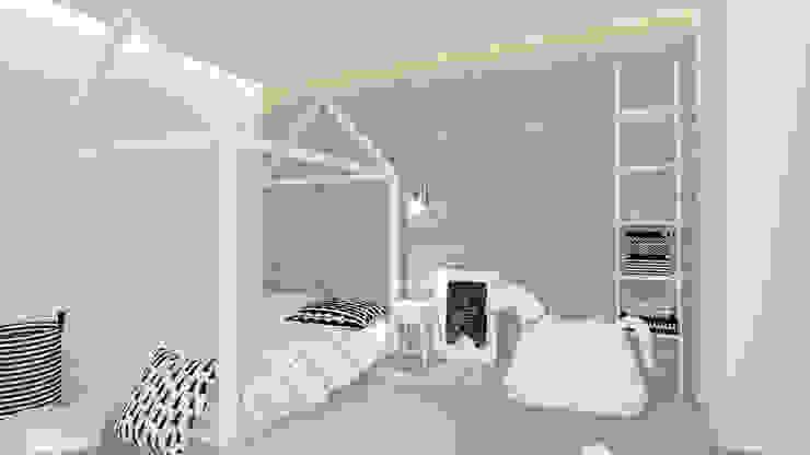 Детская комнатa в скандинавском стиле от Interjo Скандинавский Дерево Эффект древесины