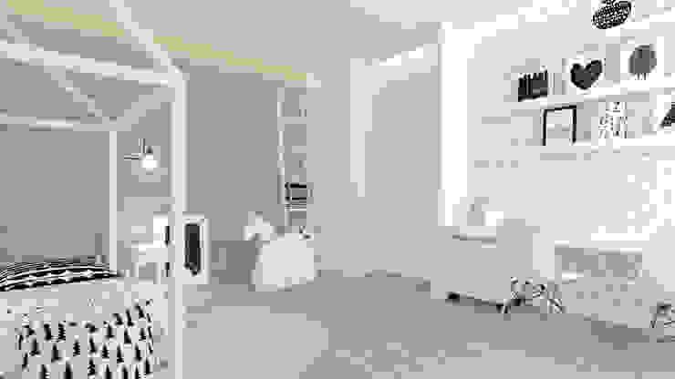 Scandinavian style nursery/kids room by Interjo Scandinavian Wood Wood effect