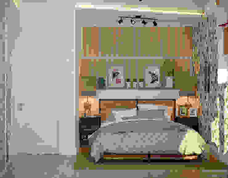 Дизайн спальни в станице Смоленская Спальня в скандинавском стиле от Студия интерьерного дизайна happy.design Скандинавский