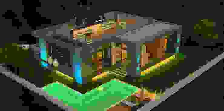 gece dış görünüm- Modern Evler ARTIBODRUM MİMARLIK MÜH.İNŞ.TAAH.TİC.LTD.ŞTİ Modern Mermer
