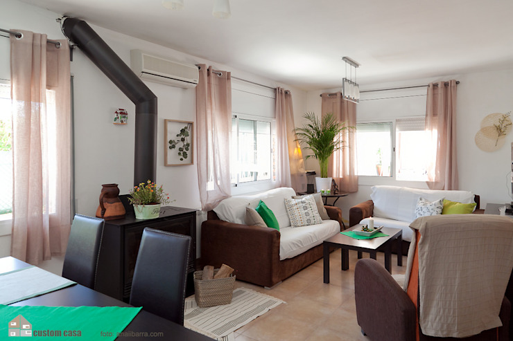 Salas de estilo mediterraneo de custom casa home staging Mediterráneo
