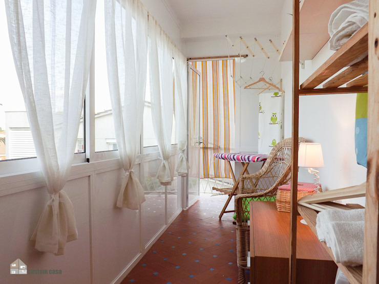 Mediterranean corridor, hallway & stairs by custom casa home staging Mediterranean