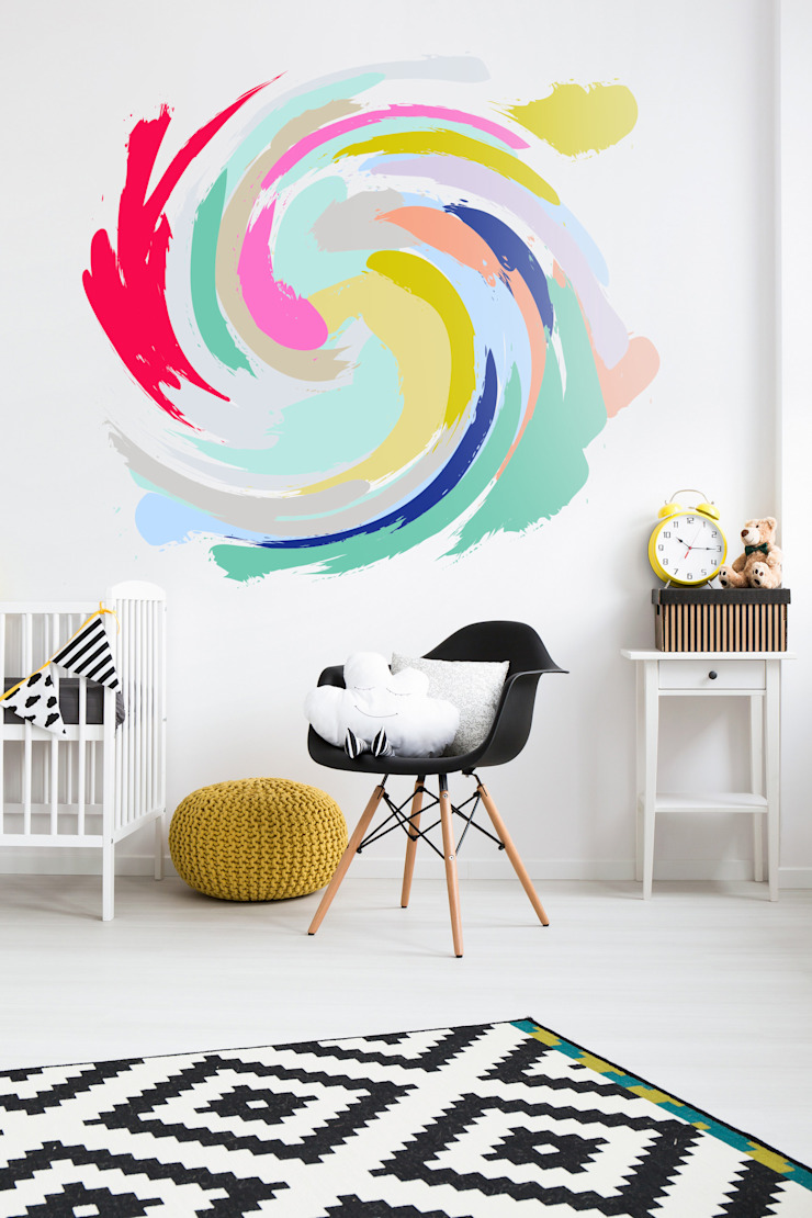 Swirl Pixers Nursery/kid's room Multicolored