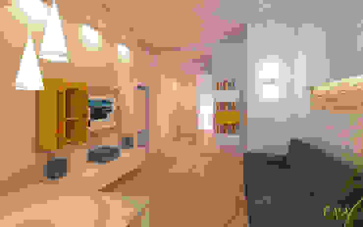 Azzurra Lorenzetto Modern living room MDF Yellow