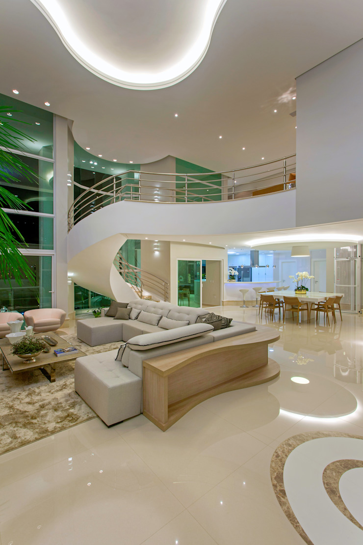 Casa Europa Salas de estar modernas por Arquiteto Aquiles Nícolas Kílaris Moderno