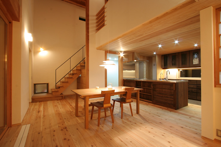 キッチン・ダイニング: 藤松建築設計室が手掛けたスカンジナビアです。,北欧