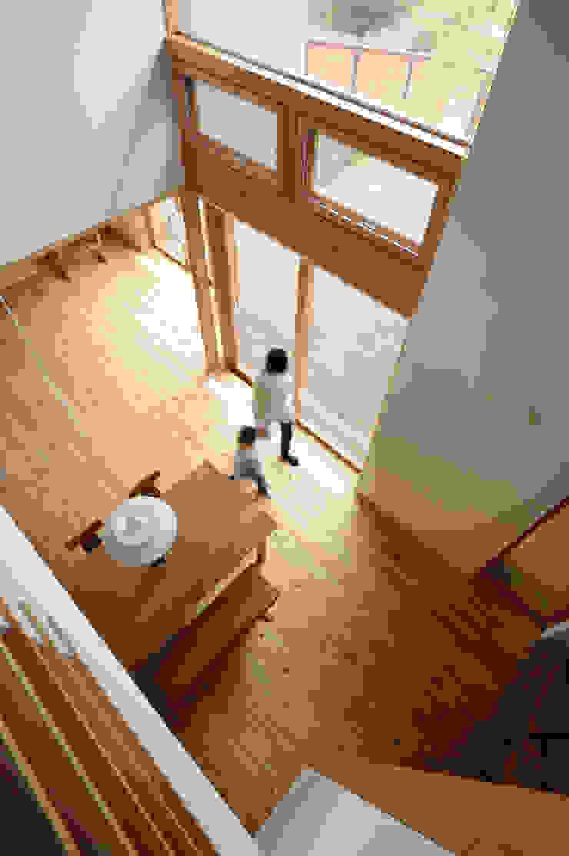 吹抜よりダイニングを見る: 藤松建築設計室が手掛けたスカンジナビアです。,北欧