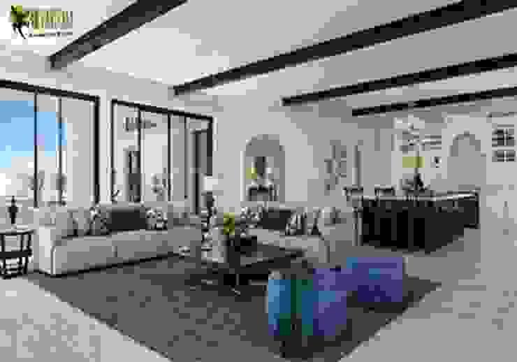 Modern Living Room and Kitchen Design: modern  by Yantram Architectural Design Studio, Modern