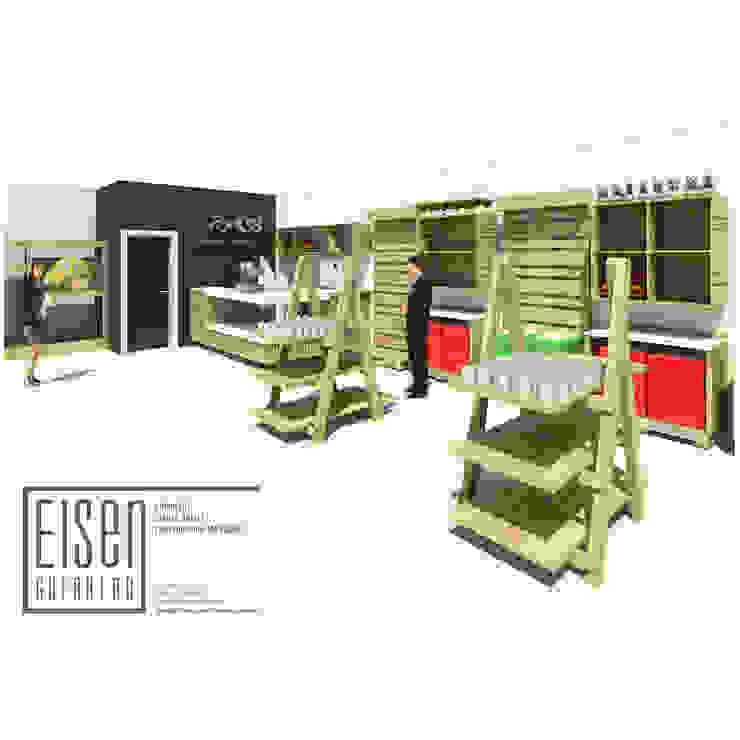 VISTA 3D LC -IGV-01 de Eisen Arquitecto Moderno Madera Acabado en madera