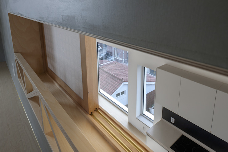 망원동 쌓은집 러스틱스타일 창문 & 문 by 에이오에이 아키텍츠 건축사사무소 (aoa architects) 러스틱 (Rustic)