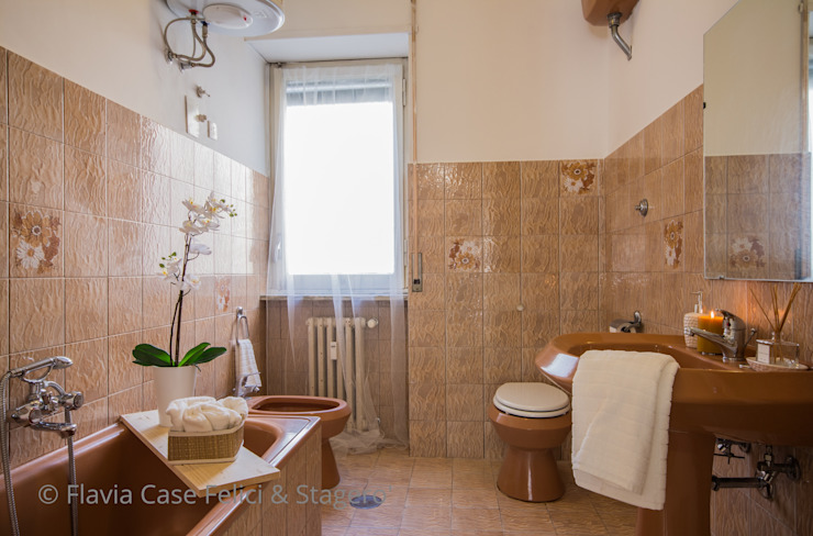 Home Staging a Ponte Milvio Bagno in stile classico di Flavia Case Felici Classico