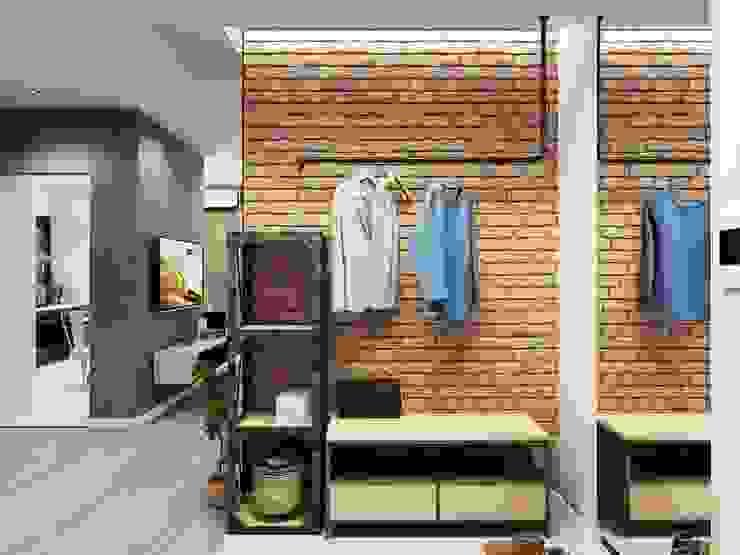 ДизайнМастер industrial style corridor, hallway & stairs Brown