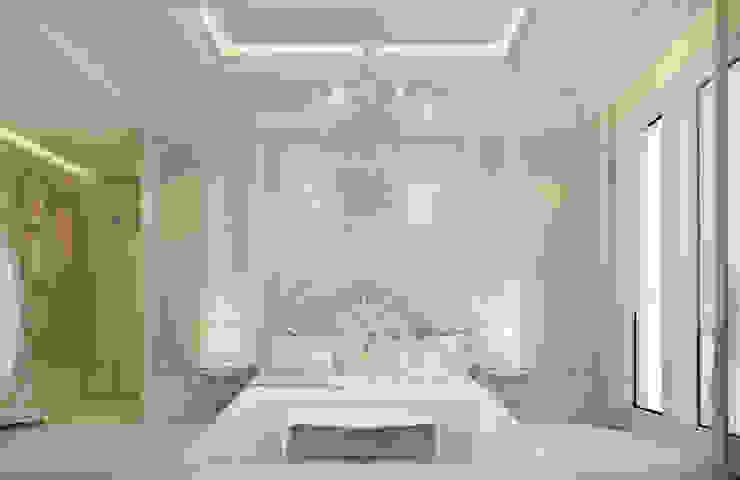 Bedroom Design in Soft and Restful Scheme Minimalist bedroom by IONS DESIGN Minimalist Marble