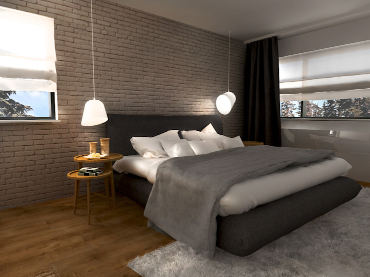 Skandinavische Schlafzimmer von MFA Studio Sp z o.o. Skandinavisch