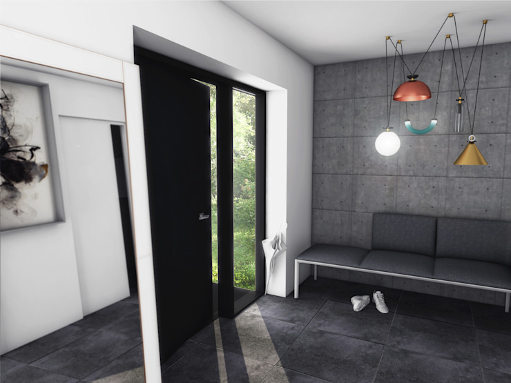 Skandinavischer Flur, Diele & Treppenhaus von MFA Studio Sp z o.o. Skandinavisch