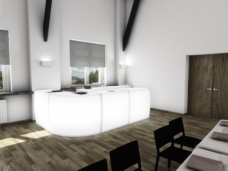 Modern Dining Room by MFA Studio Sp z o.o. Modern
