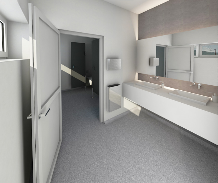 Modern Bathroom by MFA Studio Sp z o.o. Modern