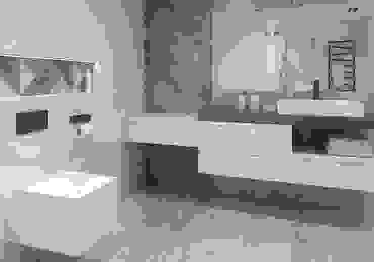 Kolekcja Trakt Industrialna łazienka od Ceramika Paradyż Industrialny