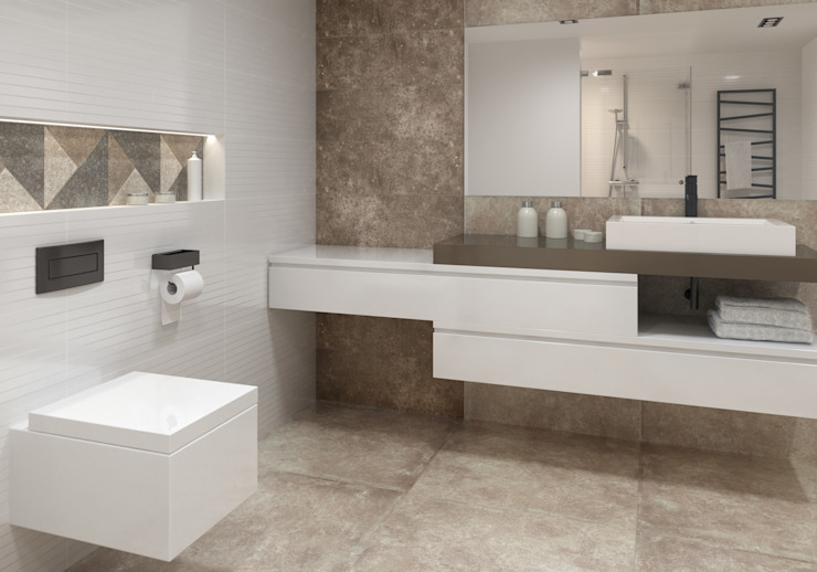 Ceramika Paradyż Industrial style bathroom
