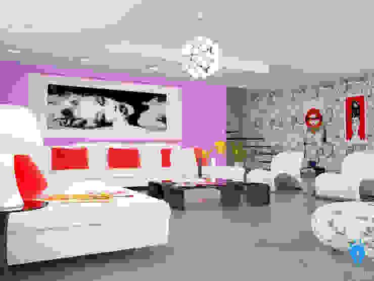 blucactus design Studio Modern Living Room
