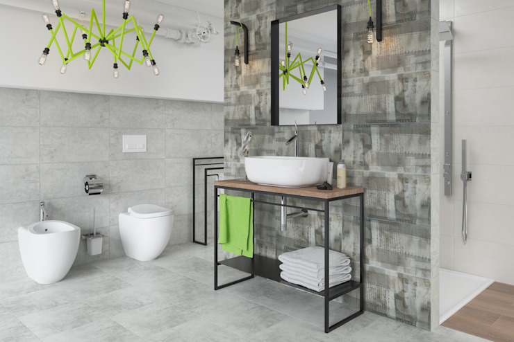 Kolekcja Ermeo Nowoczesna łazienka od Ceramika Paradyż Nowoczesny