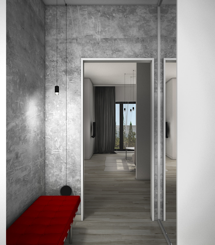 Scandinavian style corridor, hallway& stairs by MFA Studio Sp z o.o. Scandinavian