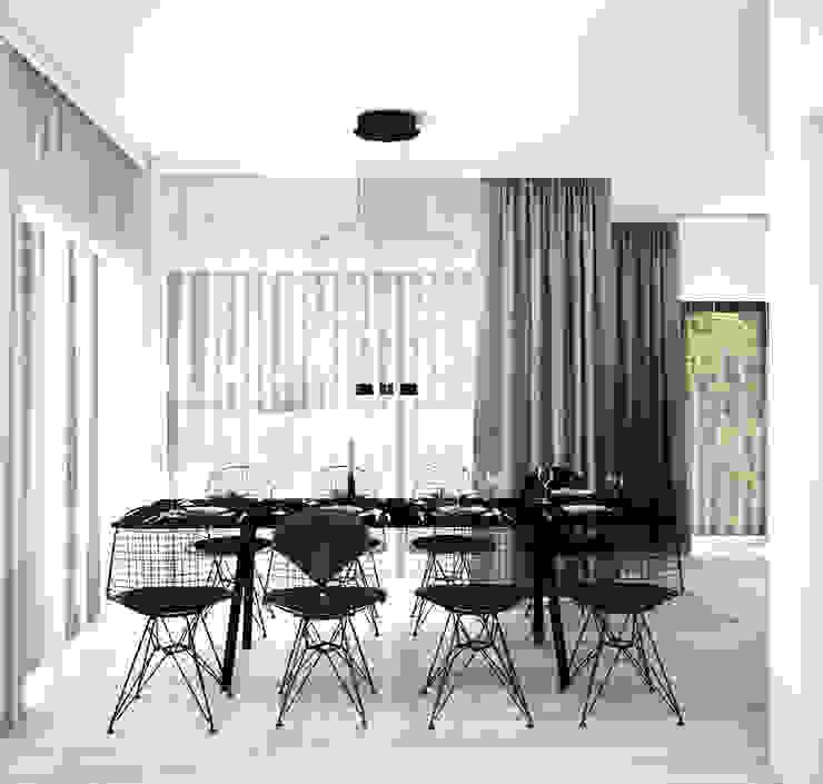 Scandinavian style dining room by MFA Studio Sp z o.o. Scandinavian