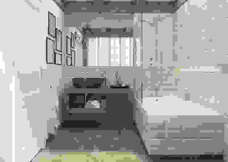 Ceramika Paradyż Rustic style bathroom