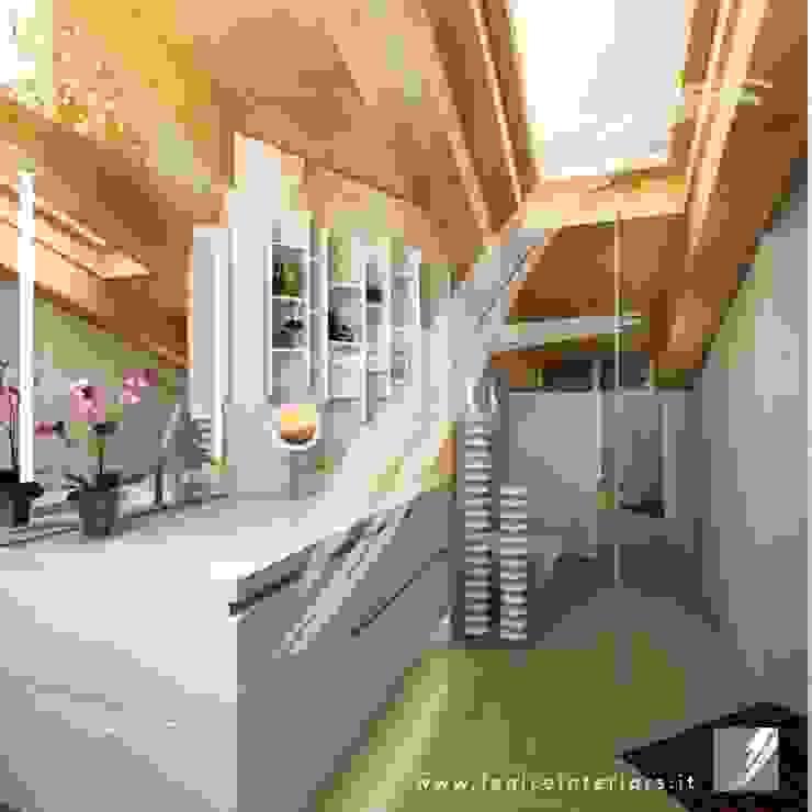 Villa AP Bagno moderno di Fenice Interiors Moderno