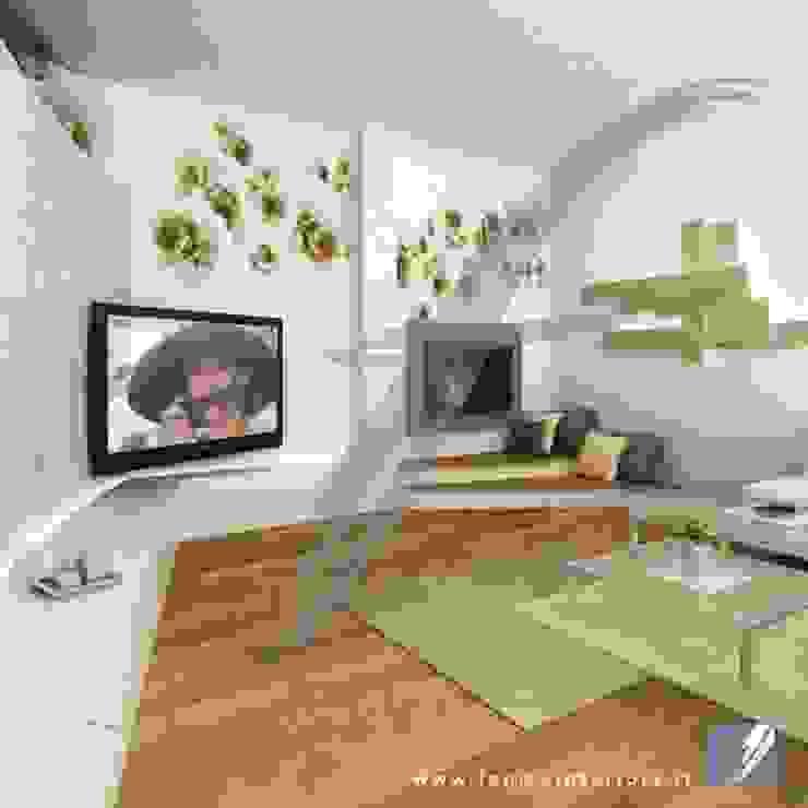 Villa AP Soggiorno moderno di Fenice Interiors Moderno