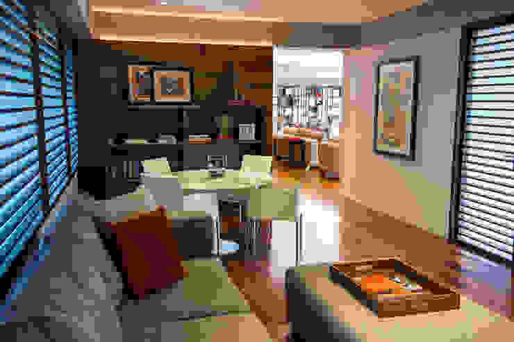 Departamento GS Salas multimedia modernas de Concepto Taller de Arquitectura Moderno