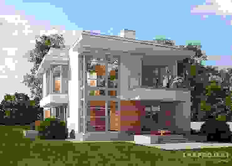 Projekty,  Domy zaprojektowane przez LK&Projekt GmbH, Nowoczesny