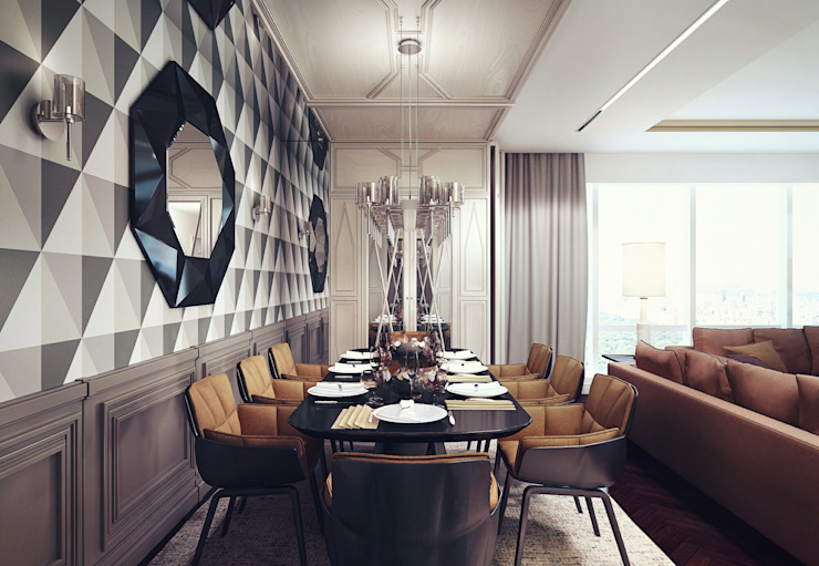 Eclectic style dining room by KAPRANDESIGN Eclectic Wood Wood effect