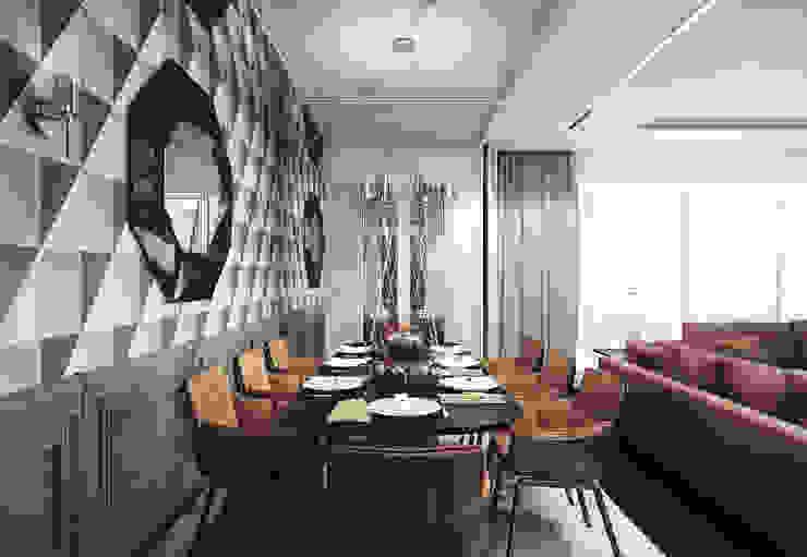Ruang Makan Gaya Eklektik Oleh KAPRANDESIGN Eklektik Kayu Wood effect