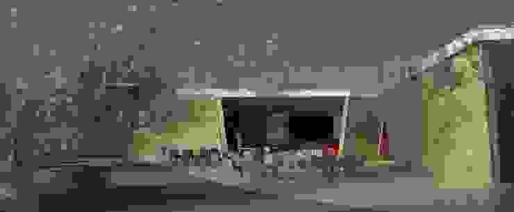 Restaurante e Bar - exterior 2 Espaços de restauração modernos por Atelier 12 Moderno