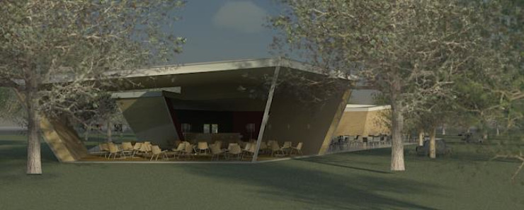 Restaurante e Bar - exterior 3 Espaços de restauração modernos por Atelier 12 Moderno