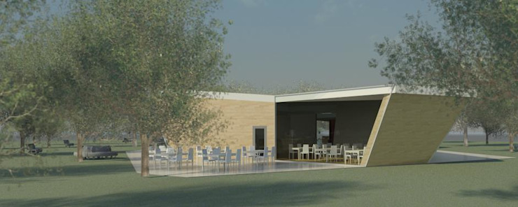 Restaurante e Bar - exterior 4 Espaços de restauração modernos por Atelier 12 Moderno
