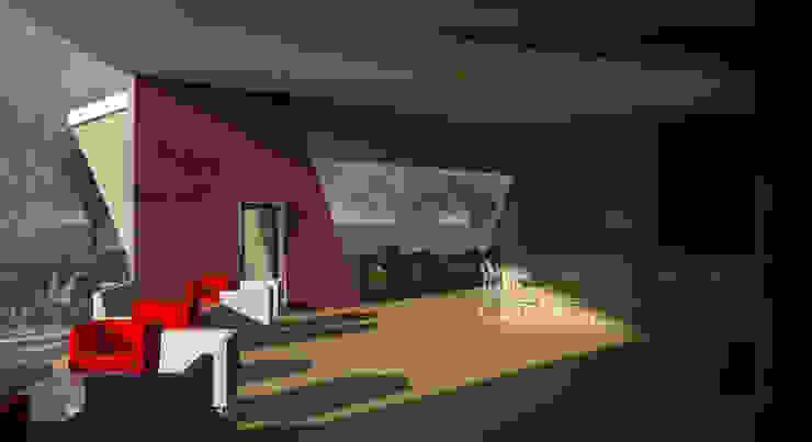 Restaurante e Bar - interior 1 Espaços de restauração modernos por Atelier 12 Moderno