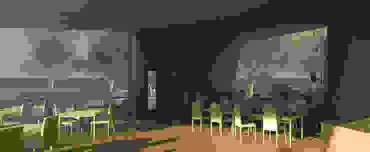 Restaurante e Bar - interior 3 Espaços de restauração modernos por Atelier 12 Moderno