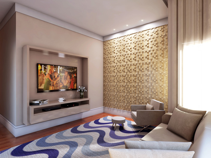 Media room by Lozí - Projeto e Obra, Modern