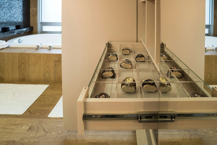 DEPARTAMENTO EN PARQUES POLANCO, CDMX Baños modernos de HO arquitectura de interiores Moderno
