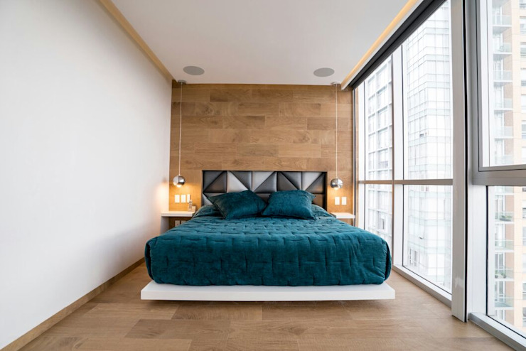 DEPARTAMENTO EN PARQUES POLANCO, CDMX Dormitorios modernos de HO arquitectura de interiores Moderno