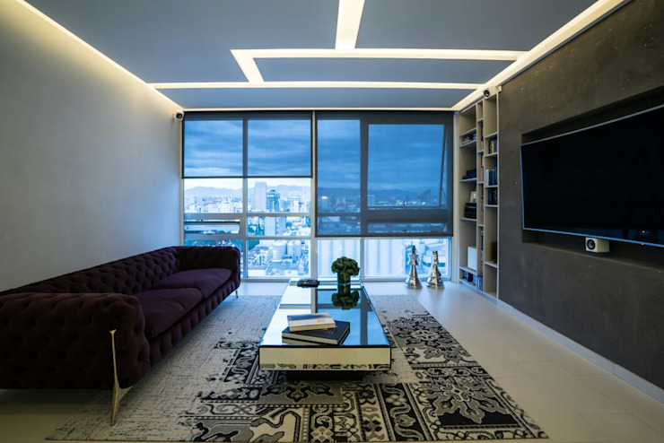 DEPARTAMENTO EN PARQUES POLANCO, CDMX Salones modernos de HO arquitectura de interiores Moderno